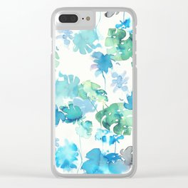 green tropical. collab dylan silva and francisco fonseca Clear iPhone Case