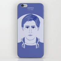 the breakfast club iPhone & iPod Skins featuring The Breakfast Club - Andrew by Pri Floriano