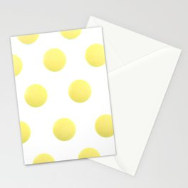 Yellow Isolated Pills Pattern Stationery Cards