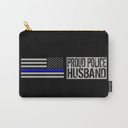 Police: Proud Husband (Thin Blue Line) Carry-All Pouch
