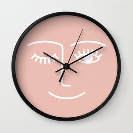Wink / Pink Wall Clock