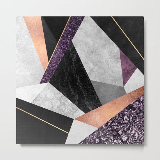 Purple Geo Metal Print