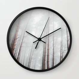 into the woods I go to find my soul Wall Clock