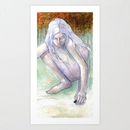 Spiral Girl Art Print