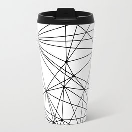 Black & White Geometric Web Travel Mug