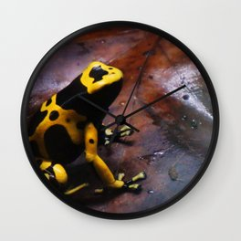 ANIMALS - frog poison Wall Clock