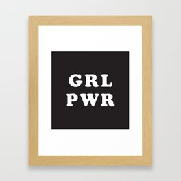 GRL PWR Framed Art Print