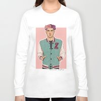 zayn Long Sleeve T-shirts featuring Zayn varsity by Coconut Wishes