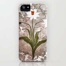 Narcissus On Marble iPhone Case
