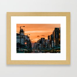 Kyoto Sunset Framed Art Print
