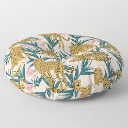 Cheetah jungle print on blush pink  Floor Pillow