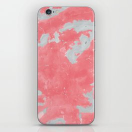 pink marble pattern iPhone Skin
