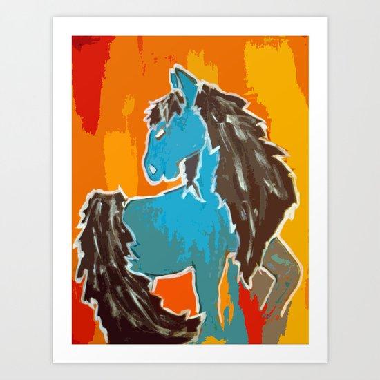 Southwest; horse Art Print