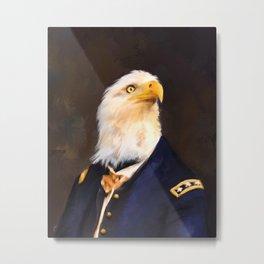 Chic Eagle General Metal Print