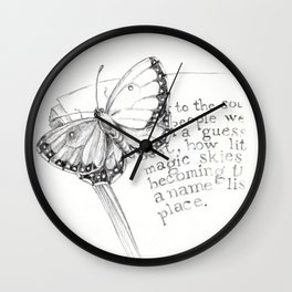 Butterfly on Your Book Wall Clock