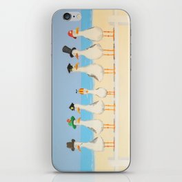 Seagulls with Hats iPhone Skin
