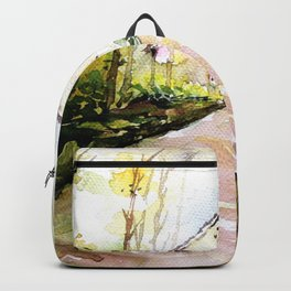 Beautiful Cottage Garden Painting Backpack