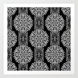 Damask pattern 23 Art Print