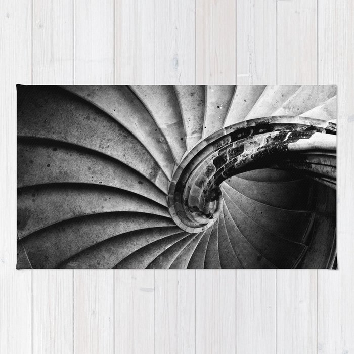 Sand Stone Spiral Staircase Rug By Falkofollert Society6