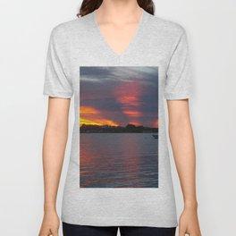 Jensen Beach Sunset Unisex V-Neck