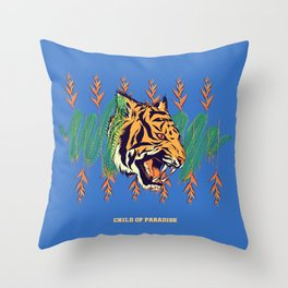 Blood Tiger Throw Pillow