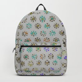 Tribal Sun Pattern on light gray Backpack