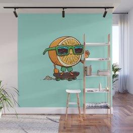 The Orange Skater Wall Mural