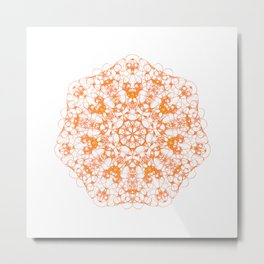 Magic Seven Mandala eden spirit orange Metal Print