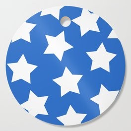Cheerful Blue Star Print Cutting Board
