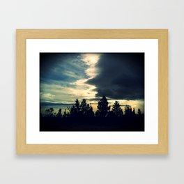 Incoming Storm Framed Art Print