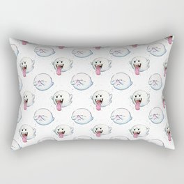 Ghost Boo Pattern, Halloween Pattern Rectangular Pillow
