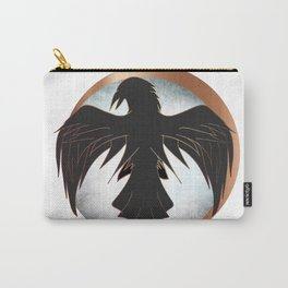 Rose Gold Raven Eclipse Carry-All Pouch