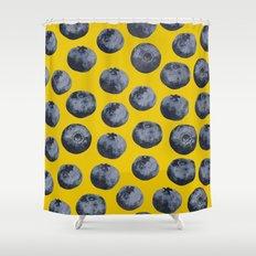 Blueberry pattern Shower Curtain