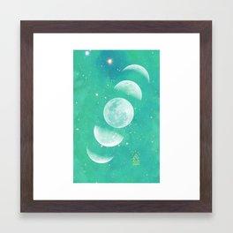 Moon Phase  Framed Art Print