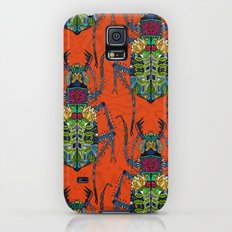 flower beetle orange Galaxy S5 Slim Case