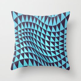 Abstract Seamless Triangles and Waves Pattern Throw Pillow