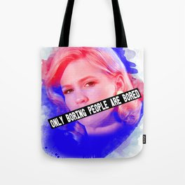 January Jones as Betty Draper in Mad Men Tote Bag