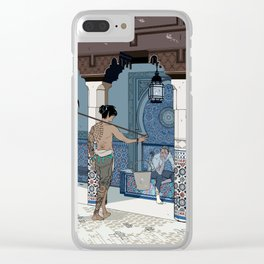A meeting on a sunny day in a foreign land Clear iPhone Case