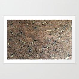 Stare Geometric Fractals on Wood Art Print