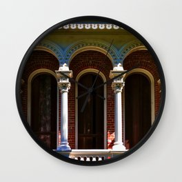Longwood Home - Detail of Arches Wall Clock