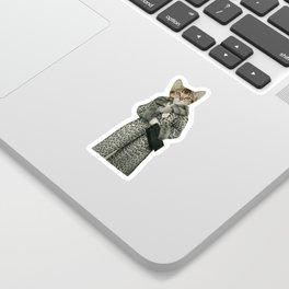 Kitten Dressed as Cat Sticker
