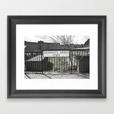 Granny's Green Steps Framed Art Print