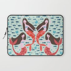 Koi Mermaids on Mint Laptop Sleeve