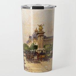 Pont Alexandre III & Grand Palais, Paris by Eugene Galien Laloue Travel Mug