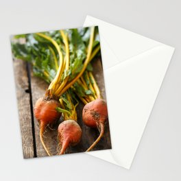 Rustic Golden Beets Stationery Cards