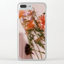 Weddings WTF (with the flowers) Clear iPhone Case