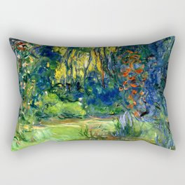 "Claude Monet ""Water lily pond at Giverny"", 1919 Rectangular Pillow"