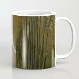 Avenue of Poplars in Autumn Coffee Mug