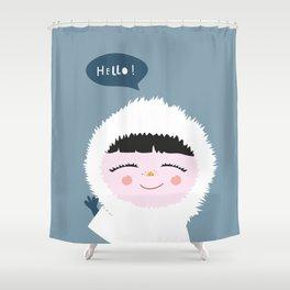 Cute little Eskimo Shower Curtain