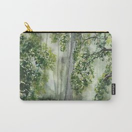 Path Through the Woods Watercolor Painting Carry-All Pouch